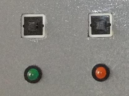 Gros plan sur les boutons et LED