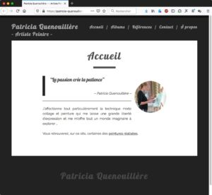 Capture d'image du site https://patricia-quenouillere.fr ; Artiste peintre à Rennes