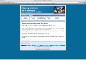 Capture d'écran de l'ancien site rg-ulrich