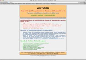 Capture d'écran du site turbel