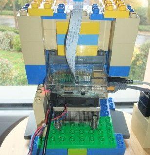 Photo du Raspberry Pi et du ventirad dans le RaspiLego
