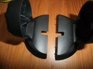 Image montrant l'encoche réalisée dans le socle