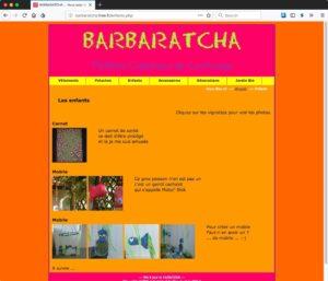 Capture d'écran du site barbaratcha