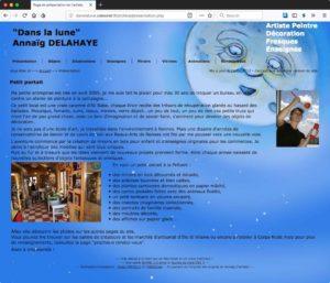 Capture d'écran de l'ancien site danslalune.celeonet.fr