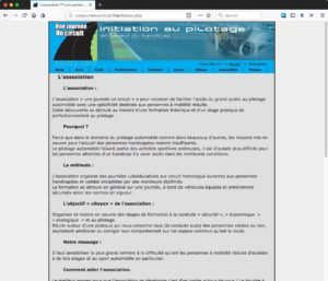 Capture du site unejourneeuncircuit