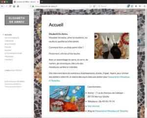Capture d'image du site https://elisabeth-de-abreu.fr