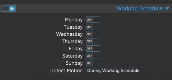 Règles ou calendrier de travail